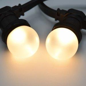 Prikkabel met matte led lampen
