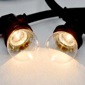 Prikkabel met transparante led lampen