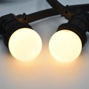 Prikkabel met melk witte led lampen - 10 tot 50 meter
