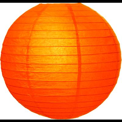 Oranje lampion van rijstpapier