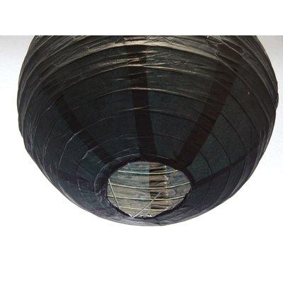 Zwarte lampion van rijstpapier