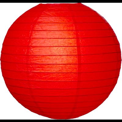 Rode lampion van rijstpapier
