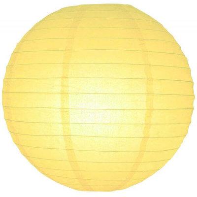 Licht gele lampionnen van rijstpapier
