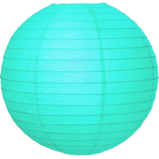 Licht blauwe lampion van rijstpapier