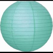 Aqua blauwe lampion van rijstpapier