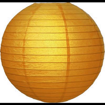 Goud kleurige lampionnen van rijstpapier