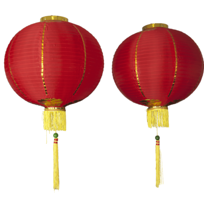 Chinese lampion nieuwjaar 2 stuks