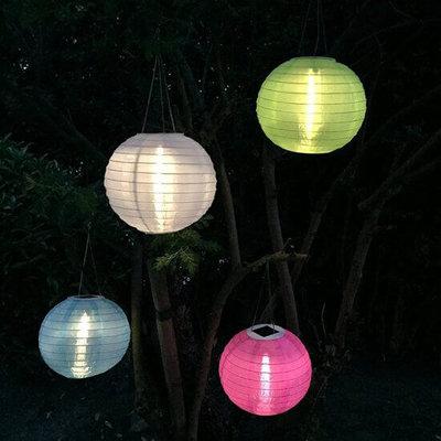 Witte solar lampionnen 30 cm