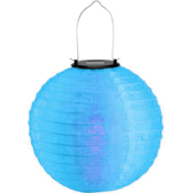 Blauwe solar lampionnen 30 cm