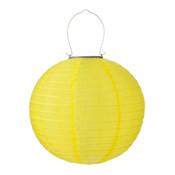Gele solar lampionnen 30 cm