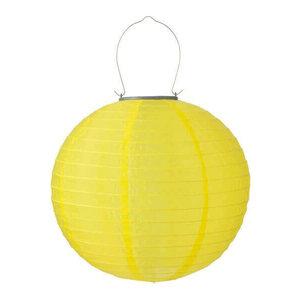 Solar lampion geel