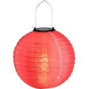 Rode solar lampionnen 30 cm