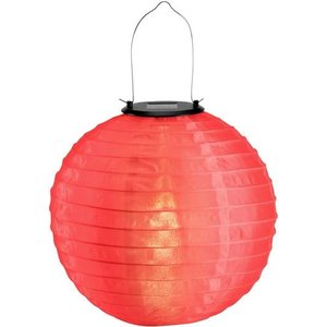 Solar lampion rood