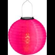 Roze solar lampionnen 30 cm