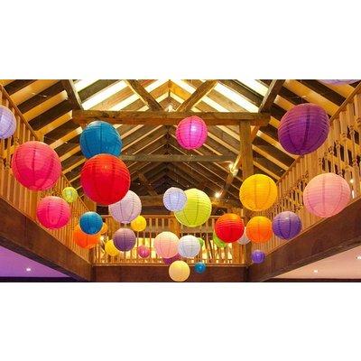 Lampion pakket kleur mix van 35 lampionnen