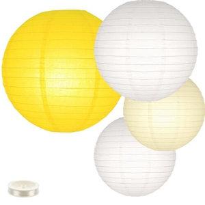 Voordeel pakket gele lampionnen