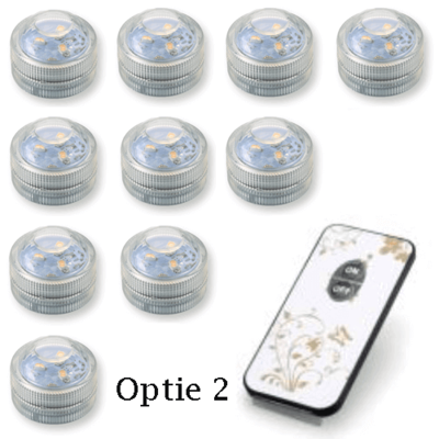 Lampion pakket mix van 35 gele en witte lampionnen