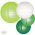 Lampion pakket mix van 35 groene en witte lampionnen