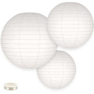 Voordeel pakket witte lampionnen