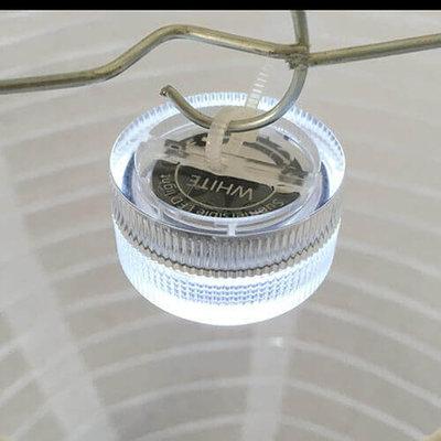 Voordeel pakket 10 witte nylon lampionnen inclusief led verlichting