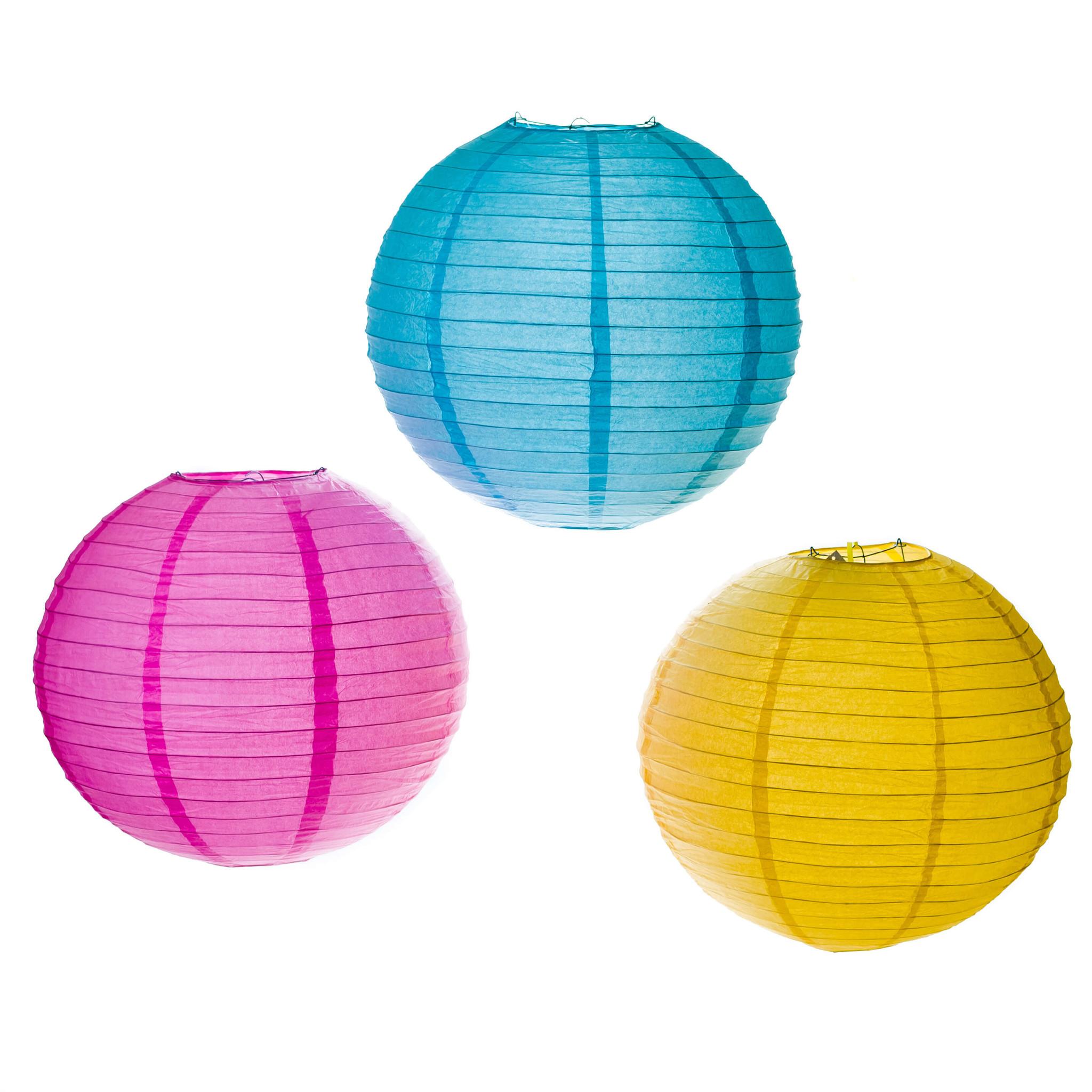 Gekleurde lampionnen kopen als feestversiering
