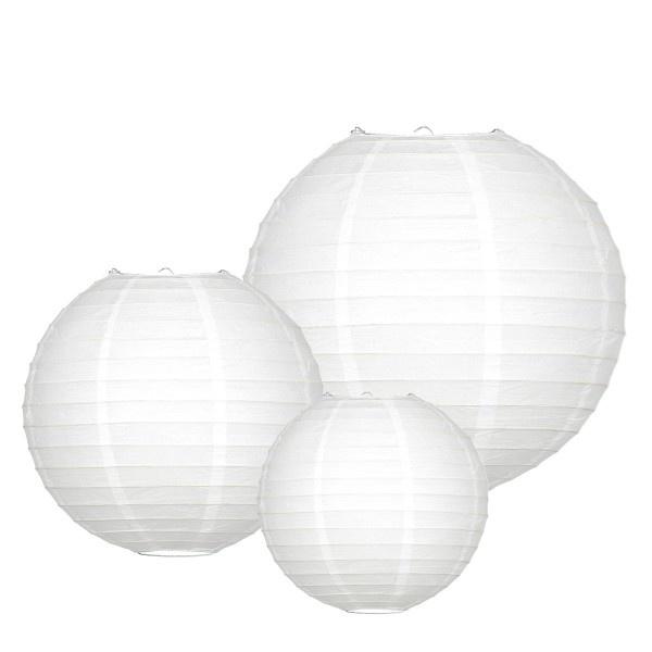 Witte lampionnen als bruiloft versiering