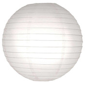 Witte lampion van rijst papier