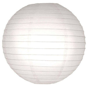 Witte lampionnen 35 cm