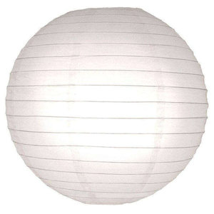 Witte lampionnen 45 cm