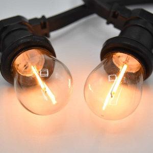 Prikkabel met filament led lampen - 10 tot 50 meter