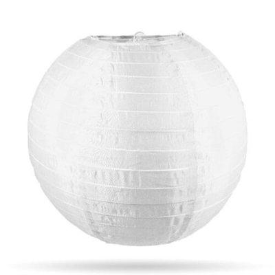Nylon lampion wit in 25 cm, 35 cm of 50 cm