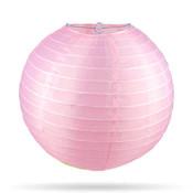 Nylon lampion roze 35 cm