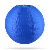 Nylon lampion donker blauw 35 cm