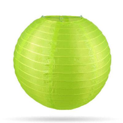 Nylon lampion lime groen 35 cm