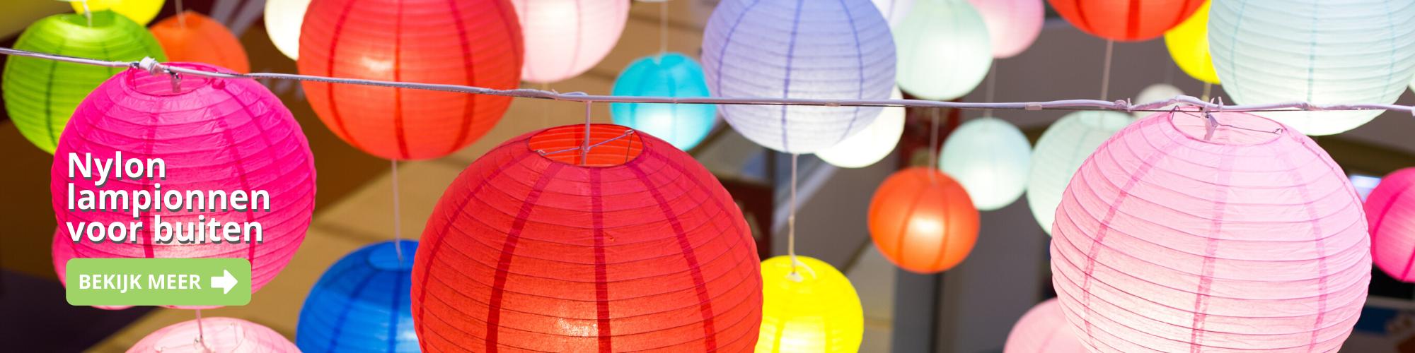Gekleurde lampionnen kopen van papier banner 1