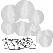Nylon lampion pakket inclusief prikkabel led verlichting
