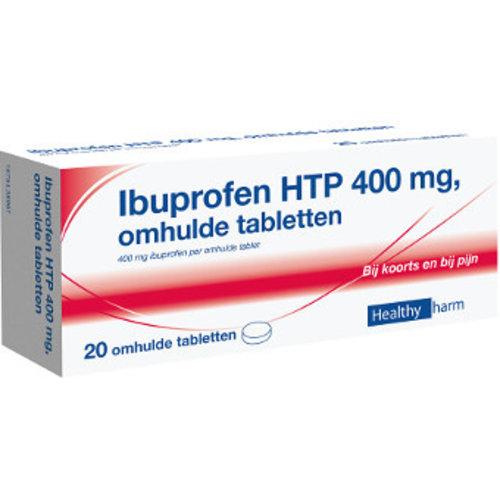 Healthypharm Ibuprofen 400mg Suikervrij - 20 Tabletten