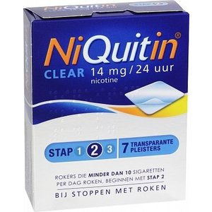 Niquitin Niquitin Clear Patch 14mg - 7 Stuks