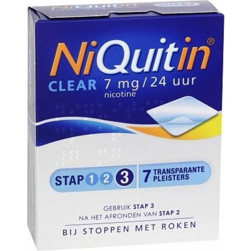 Niquitin Niquitin Clear Patch 7mg - 7 Stuks