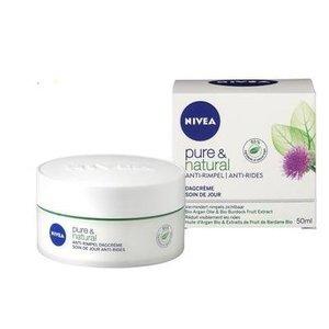 Nivea Nivea Visage Dagcreme Pure&Natural Anti Rimpel - 50 Ml