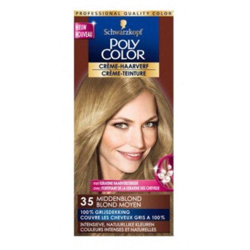 Poly Color Poly Color Creme 35 Middelblond - 1 Stuks