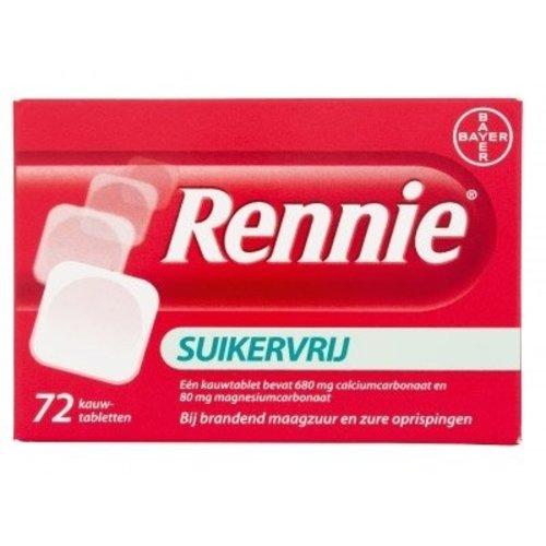 Rennie Rennie Suikervrij - 72 Tabletten