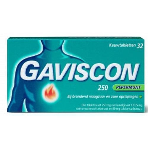 Gaviscon Gaviscon Pepermunt Kauwtabletten 250 Mg - 48 Tabletten