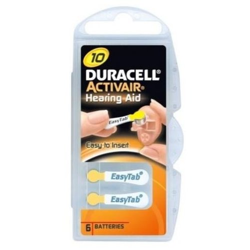 DURACELL Duracell Da10 Hearing Aid - 6 Batterijen