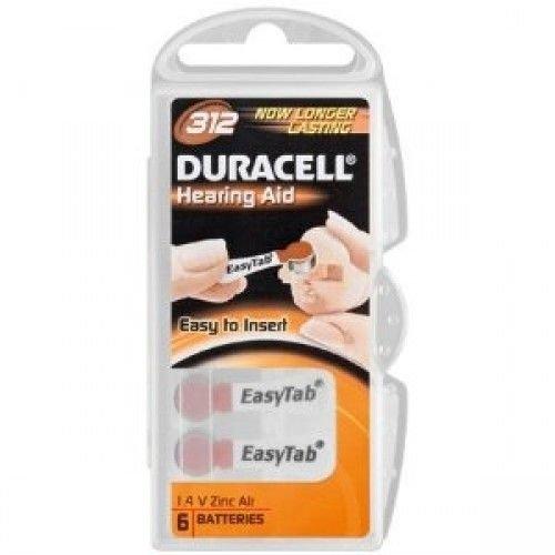 DURACELL Duracell Da312 Hearing Aid - 6 Batterijen