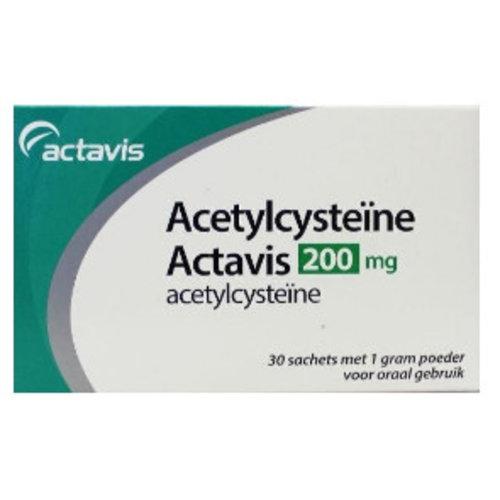Actavis Actavis Acetylcysteine Poeder 200 Mg - 30 Sachets