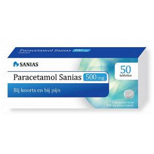 Sanias Sanias Paracetamol 500 Mg - 50 Stuks
