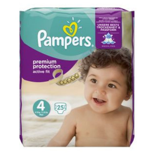 Pampers Pampers Active Fit Maxi Midpack 4 7 - 18 Kg - 25 Stuks