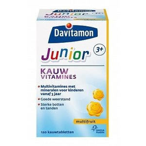 Davitamon Davitamon Junior 3+ Kauwvitamine Multifruit - 120 Stuks