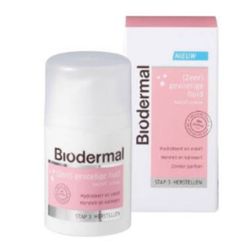 Biodermal Biodermal Nachtcreme Gevoelige Huid - 50 Ml